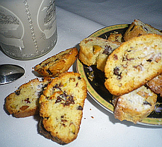 Рецепт Бискотти с фисташками и шоколадом