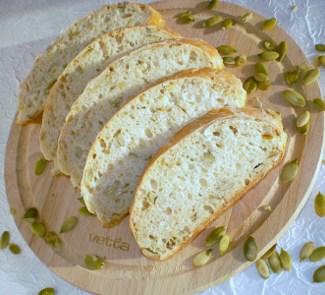 Рецепт Хлебушек с овсяными хлопьями и семенами тыквы