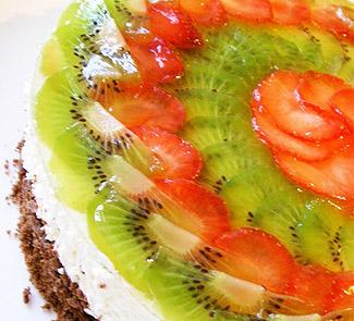 Рецепт Шоколадно-творожный торт с фруктами