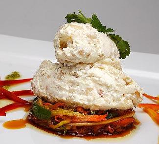Рецепт Мусс из кальмара с овощами