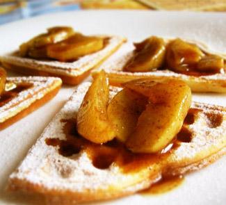 Рецепт Вафли с яблочной карамелью