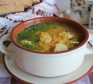 Рецепт Суп куриный с желтой чечевицей