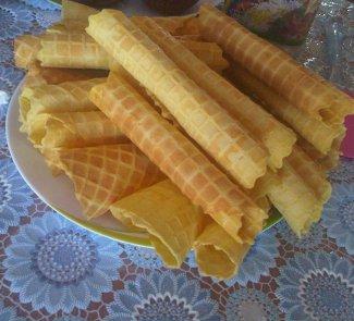 Рецепт Вафли Аппетитные с заварным кремом