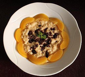 Рецепт Ванильное ризотто с персиками и шоколадом