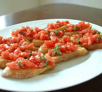 Рецепт Брускетта с сальсой из помидоров