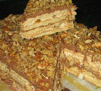 Рецепт Торт без выпечки из печенья с творогом