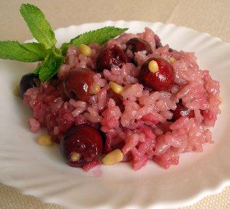 Рецепт Ризотто с вишней и кедровыми орешками