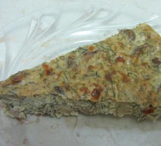 Рецепт Запеканка из грибов и творога