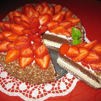 Рецепт Шоколадно-клубничный торт