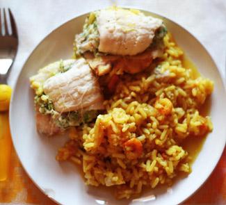 Рецепт Рыбные рулетики с рисом