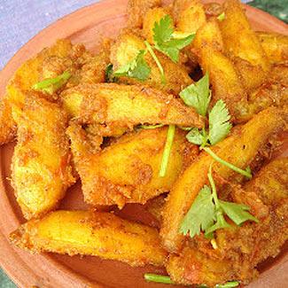 Алу Тареко - смажена картопля по-непальски