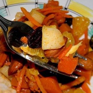 Рецепт Кисло-сладкий теплый салат из тыквы