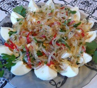 Рецепт Острый салат из яиц