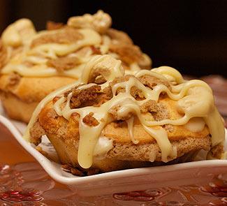 Рецепт Капкейк с яблочно-амареттовым штрейзелем