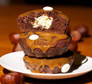 Рецепт Капкейки шоколадные с карамелью