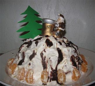 Рецепт Сметанный торт Новогодний