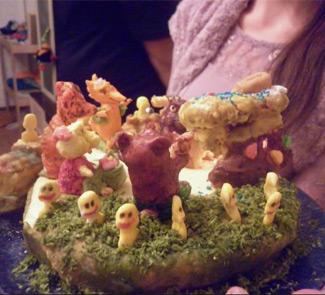 Рецепт Шоколадный вегетарианский торт Ожидание Новогоднего волшебства