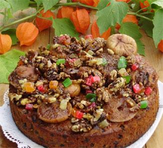 Рецепт Кекс Сказка с глазированными фруктами и орехами