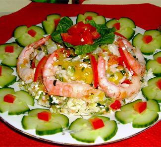 Рецепт Салат с крабовым мясом VICI и креветками