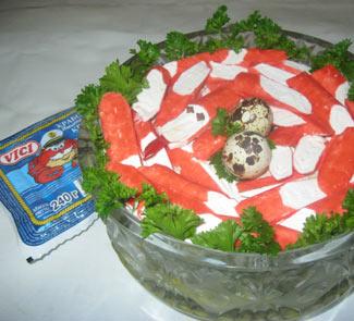 Рецепт Слоенный салат Пестрая змейка