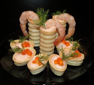 Рецепт Тарталетки с муссом из крабового мяса