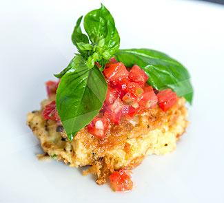 Рецепт Котлеты из нута с томатной сальсой и базиликом
