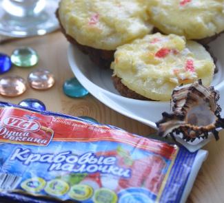 Рецепт Котлеты с ананасами и крабовыми палочками