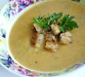 Рецепт Гороховый суп-пюре с оливками