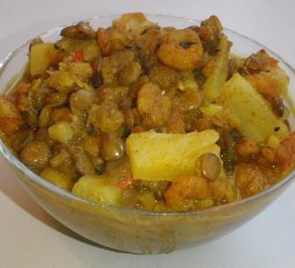 Рецепт Индийское блюдо Дхансак (Dhansak) с креветками