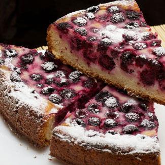 творожный пирог с ежевикой рецепт