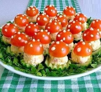 Закуски с помидорами - рецепты с фото 27