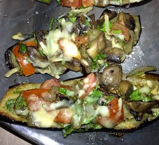 Рецепт Закуска из баклажан с овощами