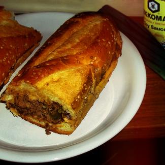 Рецепт Сэндвич-багет со стейком в кисло-сладком маринаде