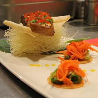 Чилийский сибас на гриле