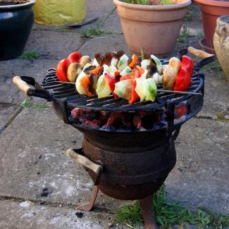 Рецепт Шашлычок из баранины с грибами и помидорами