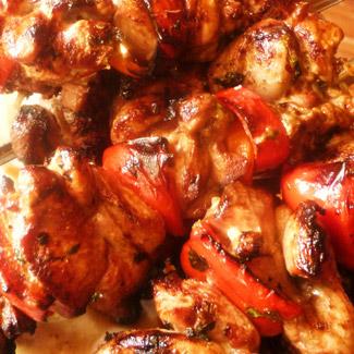 Рецепт Восточный шашлык из индейки