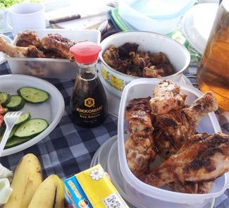Рецепт Куриный шашлык в соевом соусе