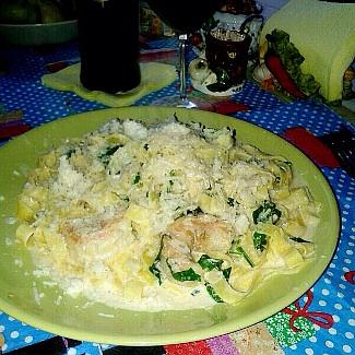 Рецепт Паста в сливочном соусе с креветками