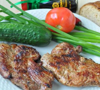 Рецепт Стейки свиные в соевом соусе с чили
