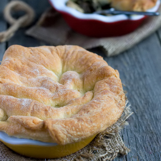 Рецепт Куриный пирог с лесными грибами