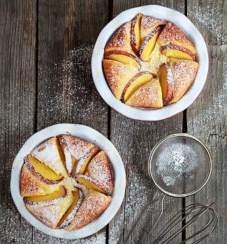 Рецепт Творожный пирог с фруктами