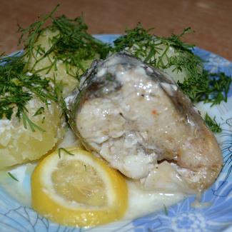 Рецепт Судак в белом лимонном соусе