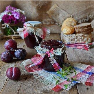 Рецепт Гастрономический конфитюр из сливы с чабрецом и бергамотом