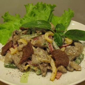 Рецепт Салат с говядиной и стручковой фасолью