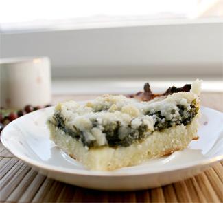 Рецепт Сладкий пирог с щавелем и штрейзелем