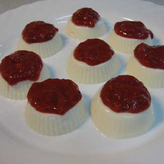 Рецепт Паннакотта с клубникой