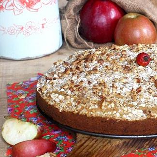 Рецепт Пирог с тыквой, яболоком и орехами