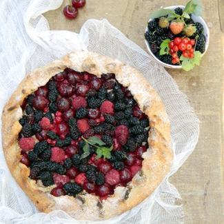 Рецепт Диетическая ягодная галета-пирог