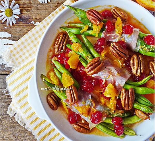 Рецепт Фасоль, запеченная в pancetta