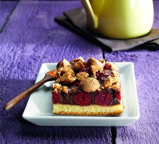 Рецепт Шоколадно-кремовый пирог с вишней